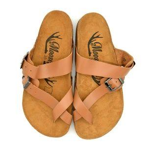Moosefield Womens Toe Wrap Slide Sandal EUR 36 New